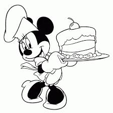 Leuk Voor Kids Minnie Mouse Heeft Een Taart Gebakken Within Minnie