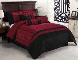 chezmoi collection dynasty jacquard 7 piece comforter set queen black red
