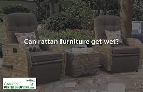 can rattan garden furniture get wet