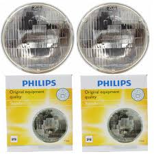 Sealed Beam Lights Two Philips Standard Sealed Beam Light Bulb 6014c1 For 6014 Par 56 12 8v