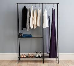 ... Wardrobe Racks, Clothes Rack Clothes Rack Walmart Freestanding Black  Steel Clothing Rack With Double Rod ...