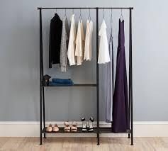 ... Wardrobe Racks, Clothes Rack Clothes Rack Walmart Freestanding Black Steel  Clothing Rack With Double Rod ...