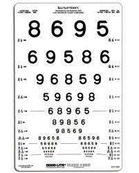 Vision Screening Chart B Back Of Peri Vision Screening Chart With Lea Numbers
