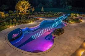 home swimming pools. Music Lover Or Not, You Will No Doubt Fall In Love With This Violin Shaped Swimming Pool. It Was Really Designed Very Creatively And Is Obvious That The Home Pools L
