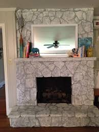 appealing painted stone fireplace images painting a stone fireplace painted rock fireplace pictures full size
