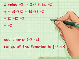 Range And Domain How To Find The Domain And Range Of A Function 14 Steps
