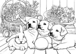 Now you can color them! Puppies Printable Adult Coloring Page From Favoreads Etsy