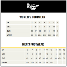 Dr Martens Youth Size Chart Dr Martens Sizing Chart Rm