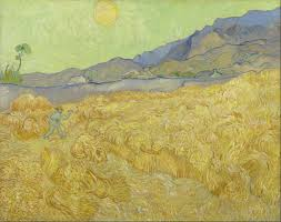 wheat fields van gogh series wheat field reaper 1889 van gogh museum amsterdam f618