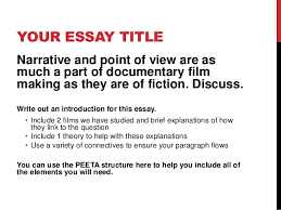 lesson academic essay writing 8 your essay title narrative and point of view