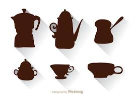 coffee pot silhouette. Wonderful Coffee Arabic Coffee Pot And Cup Silhouette To L