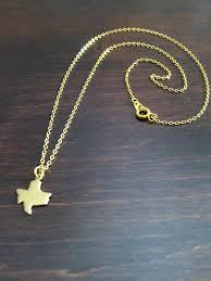 texas necklace texas gold texas