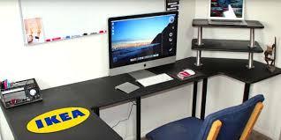 office computer setup. Ikea Pc Desk Computer Setup 9 Practical Hacks Office Workstation