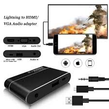 lightning to hdmi vga audio digital av adapter for ios android phone tablet