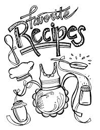 recipe book coloring pages printable recipe binder coloring pages for s so cool this is such