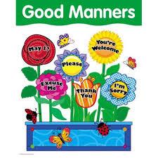 Good Habits Chart For School Good Manners Basic Skills Chart