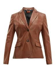 altuzarra marilyn single ted leather jacket