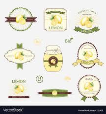 Label Design Templates Lemon Set Of Label Design And Templates Royalty Free Vector