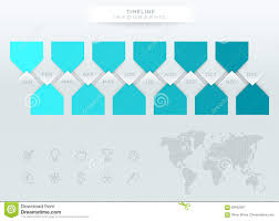 Year Timeline Infographic Blue Timeline With 12 Months Of The Year Stock Vector