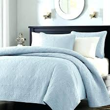 light blue bedding set blue comforter full queen size quilted bedspread coverlet with 2 shams in light blue bedding