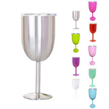 details about 10oz wine glass double wall insulated tumbler w lid stainless steel kitchen us