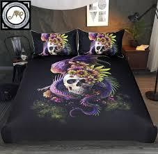 paisley duvet cover inspirational flowery skull by sunima bedding set purple gothic duvet cover