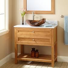 Open Shelf Vanity Bathroom Brown Wooden Narrow Vanities With Shelf And White Top Also Brown
