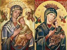 icon of our mother of perpetual help or virgin of the passion two lovely reions