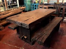 Unique dining room tables Wooden Java Reclaimed Iron Wood Dining Table Set sold Definitely The Heaviest Dining Table That Washburn Imports Unique Dining Room Furniture Buffet Cabinets Farm Tables Live
