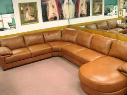 leather sectional sofas for bright brown colored sofa with circle chaise large size softly elegant