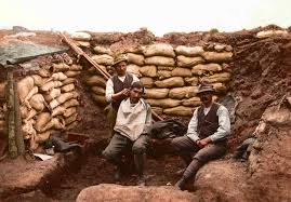 new color photos of world war i trench warfare iers could spend the majority of their deployments in the trenches here a ier receives a haircut from a barber on the n front
