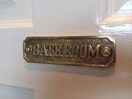 Bathroom Plaques Signs BATHROOM SIGN PLAQUE SEASIDE NAUTICAL GIFT ...