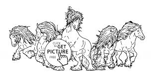 Beautiful Wild Horses Coloring Page For Kids Animal Coloring Pages