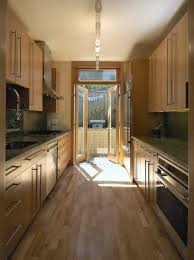 For Galley Kitchen Galley Kitchen Track Lighting Over Small With Floor To Ceiling