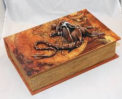 brown dragon on old world map book 4
