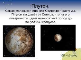 Презентация на тему Планеты солнечной системы Окружающий мир  25 Плутон Самая маленькая планета Солнечной системы