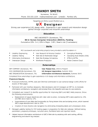 education in resumes sample resume for an entry level ux designer monster com