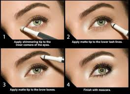 makeup tip of the day to make your eyes look brighter awake and healthy without too much makeup highlight your eyes you can use a shadow pen like