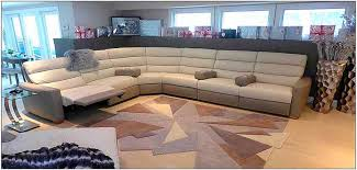 Beautiful leather sectional. The unique channeled back gives support to  your neck and shoulders.