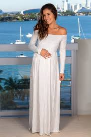 Light Maxi Dress Light Gray Off Shoulder Maxi Dress