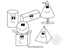 Figure Geometriche Solide Da Colorare Tuttodisegnicom