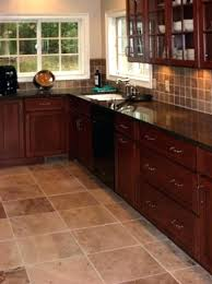 dark brown tile floor ceramic tile kitchen floor designs kitchen floor tile ideas with dark cabinets dark brown tile