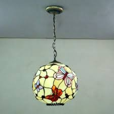 stained glass pendant lighting globe shape erfly pattern inch hanging pendant lighting in stained glass style stained glass pendant lighting