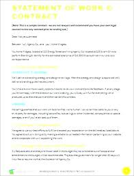 design statement of work sow contract template