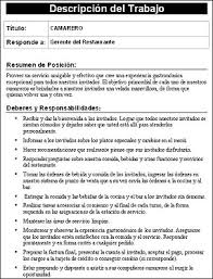 Download Job Description Templates Spanish Version