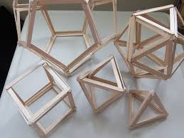 picture of 5 platonic solids popsicle sticks models diy