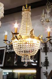 vintage french empire style crystal basket chandelier 4500