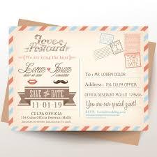 orange and turquoise wedding invitations. postcard for wedding invitations free vector orange and turquoise