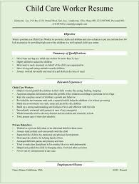 Child Resume Example 24 Up To Date Child Care Resume Examples Professional Resume Templates 12
