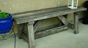 rustic outdoor bench wooden garden image credit plans benches